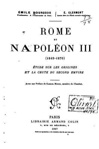 Download Rome et Napoléon III (1849-1870)