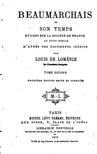 Download Beaumarchais et son temps