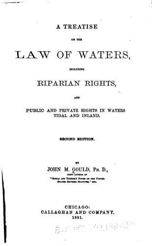 A treatise on the law of waters