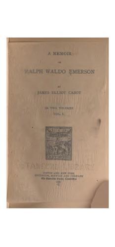 Download A memoir of Ralph Waldo Emerson