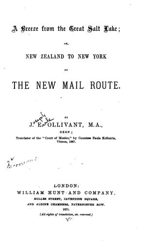 A breeze from the Great Salt Lake, or, New Zealand to New York by the new mail route.