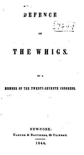 Download Defence of the Whigs.