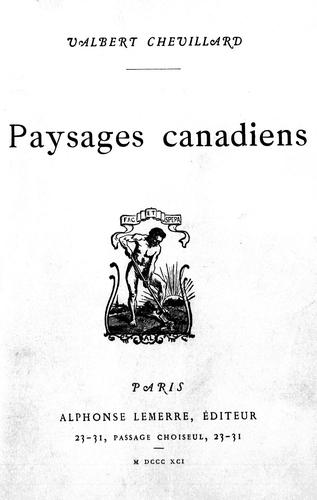 Download Paysages canadiens