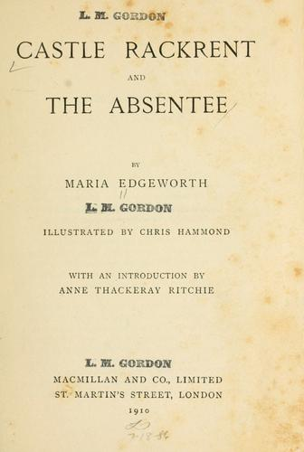 Download Castle Rackrent and The absentee