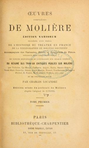 uvres complètes de Molière