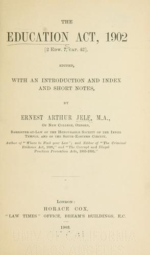 Download The Education Act, 1902