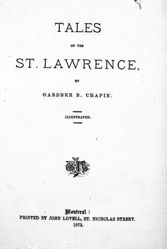 Tales of the St. Lawrence