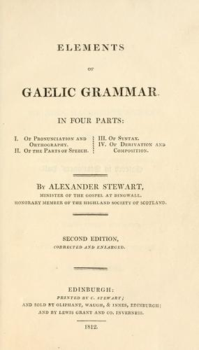 Download Elements of Gaelic grammar