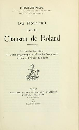 Du nouveau sur la Chanson de Roland