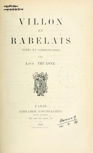 Villon et Rabelais