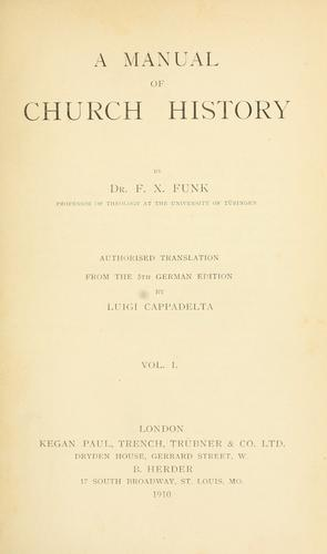 Download A manual of church history.
