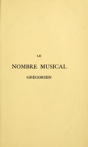 Le nombre musical grégorien