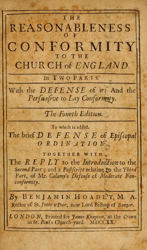 Download The reasonableness of conformity to the Church of England