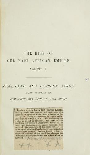 Download The rise of our East African empire