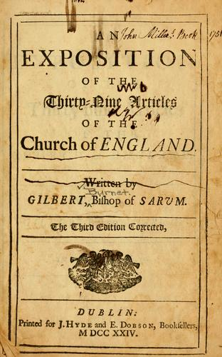 Download An exposition of the thirty nine articles of the Church of England.