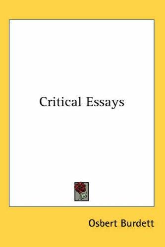 Download Critical Essays