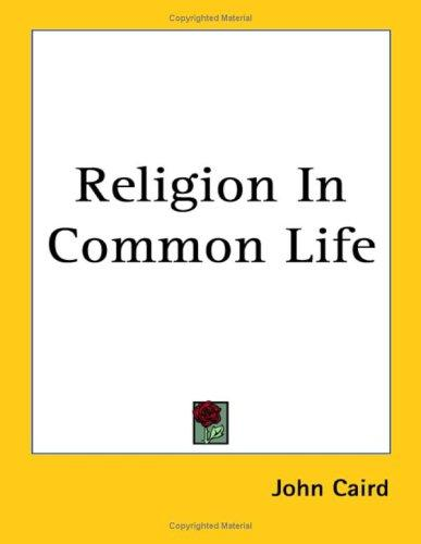 Download Religion in Common Life