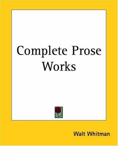 Download Complete Prose Works