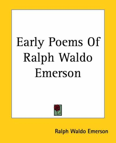 Download Early Poems Of Ralph Waldo Emerson