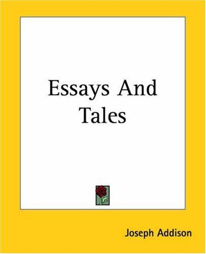 Download Essays And Tales