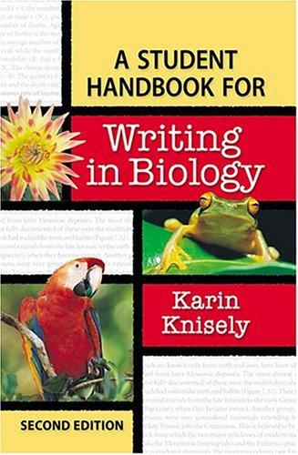 Download A student handbook for writing in biology