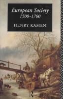 European society 1500-1700
