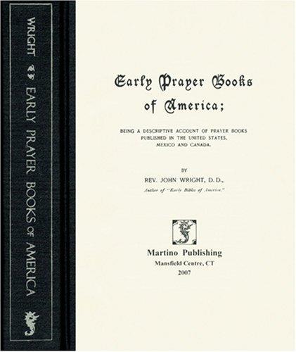 Early Prayer Books of America