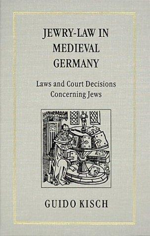 Jewry-Law in Medieval Germany