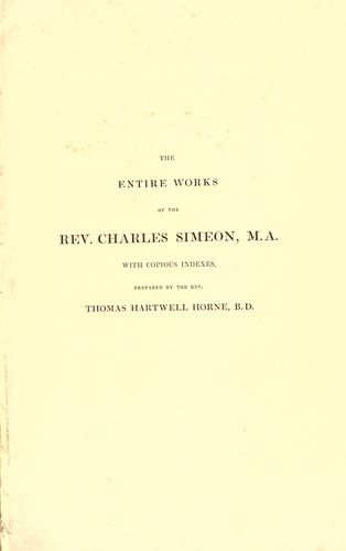 Download The Entire Works of the Rev. C. Simeon