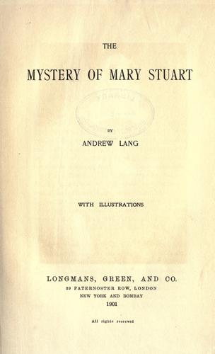 Download The mystery of Mary Stuart
