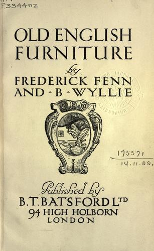 Old English furniture.
