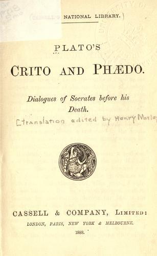 Crito and Phaedo
