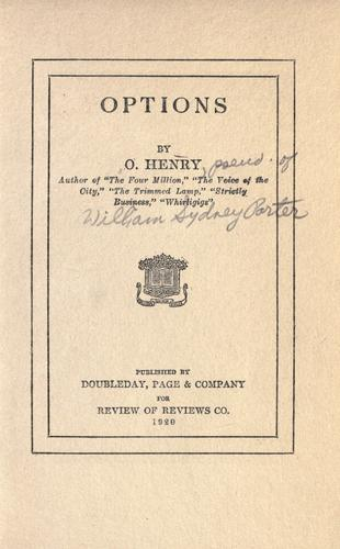 Options by O. Henry