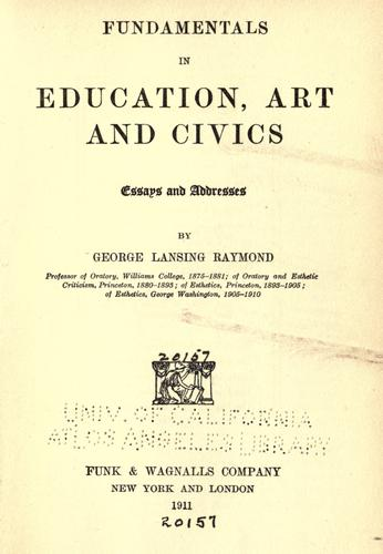 Fundamentals in education, art and civics