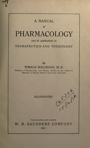 Download A manual of pharmacology and its applications to therapeutics and toxicology.