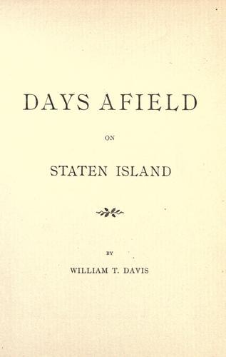 Download Days afield on Staten Island