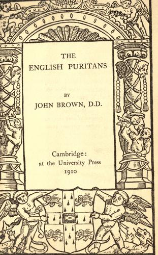 Download The English Puritans.