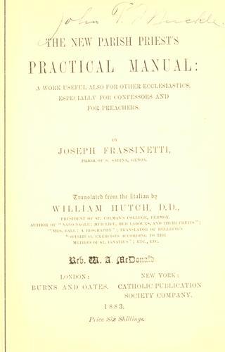 The new parish priest's practical manual