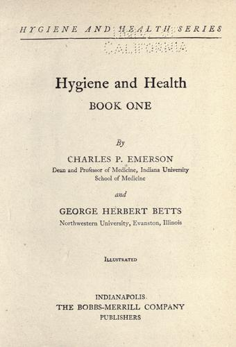 Hygiene and health …