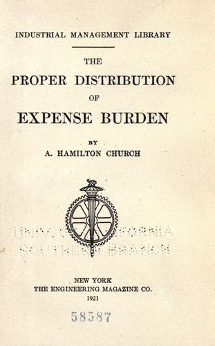 Download The proper distribution of expense burden