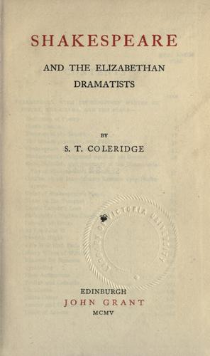 Download Shakespeare and the Elizabethan dramatists.