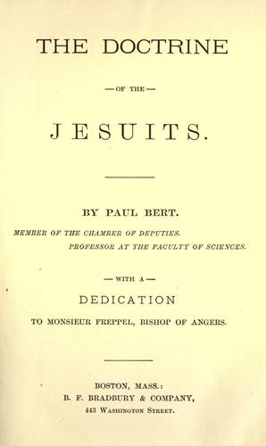 Download The doctrine of the Jesuits
