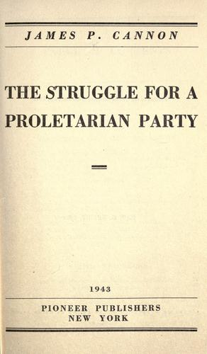 The struggle for a proletarian party.
