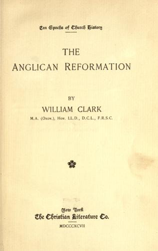 The Anglican Reformation.