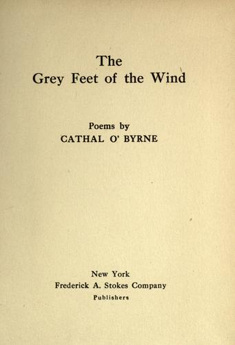 The grey feet of the wind