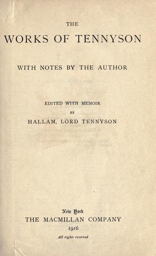 Download The works of Tennyson