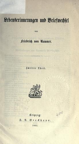 Download Lebenserinnerungen und Briefwechsel.