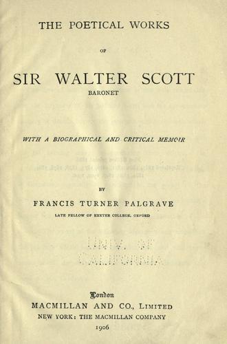 Download Poetical works of Sir Walter Scott, baronet
