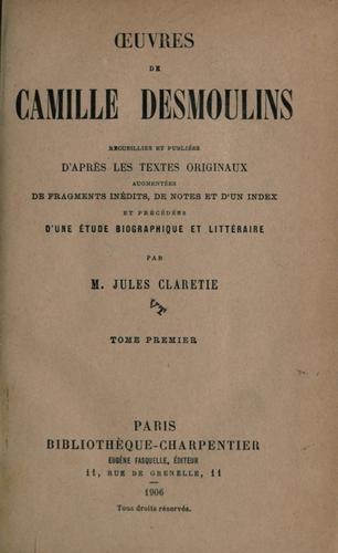 Download ℗Œuvres de Camille Desmoulins