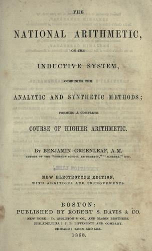 Download The national arithmetic on the inductive system